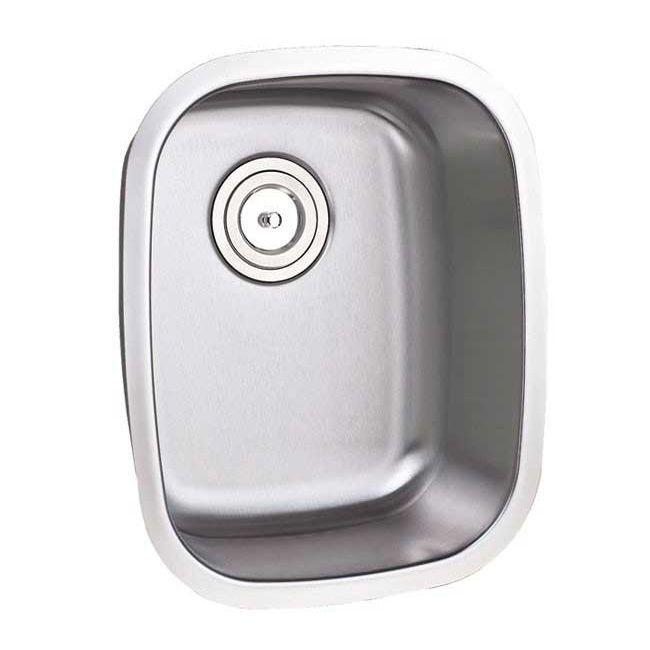 """15-inch Single Bowl Undermount Stainless Steel (Silver) Kitchen/ Island/ Bar Sink (15"""" Single Bowl Undermount Kitchen Sink), Size 18 - 19"""""""