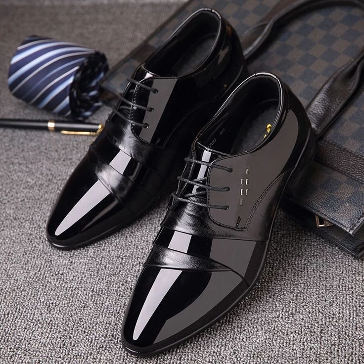 Office Shoes Patent Leather Business Dress Shoes