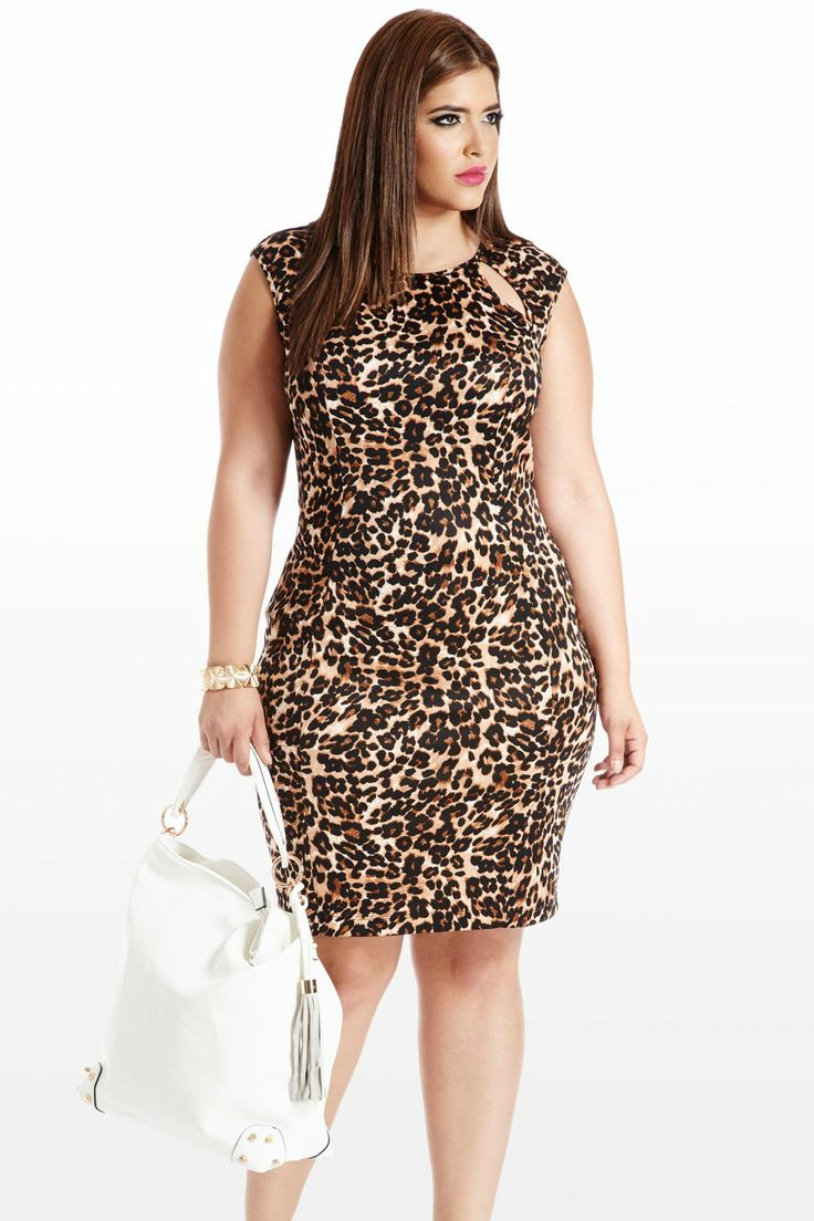 Feline By Me Animal Cutout Dress. I'm generally not big on all over animal print. but i like this.