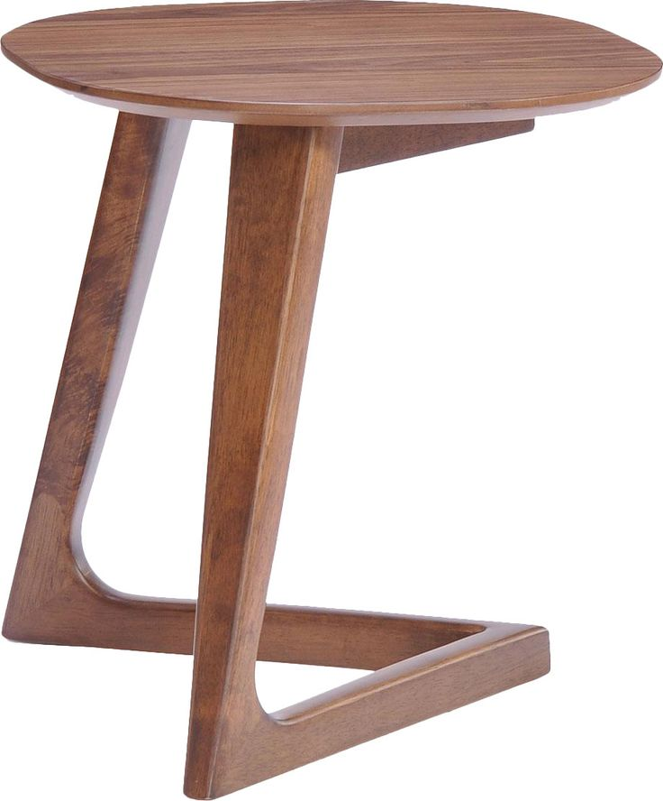 Features: -Modrest collection. -Walnut veneer finish. -Distressed: No. Shape: -Round. Design: -C Table. Style: -Modern. Top Finish: -Walnut. Base Finish: -Walnut. Base Material: -Wood. Top M More