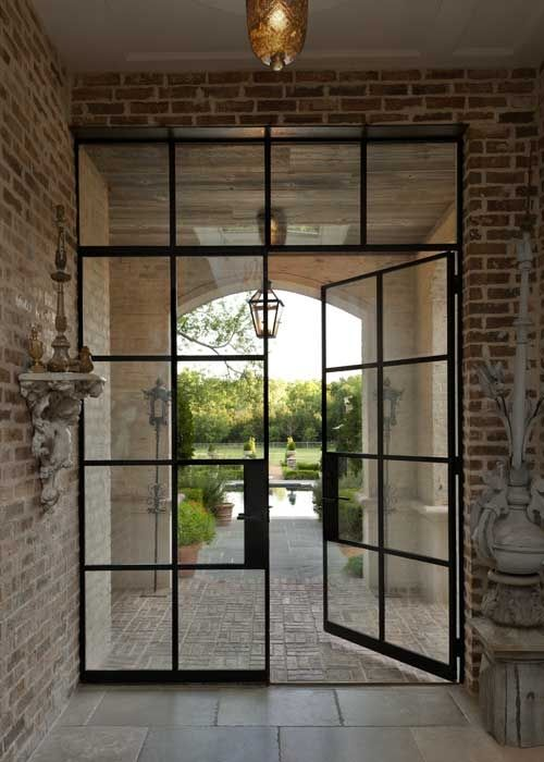 17 best images about ironwork on pinterest iron gates for Steel exterior french doors