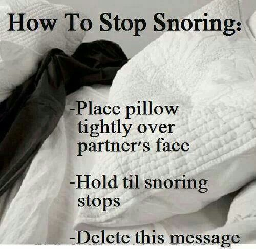 how to stop someone from snoring immediately