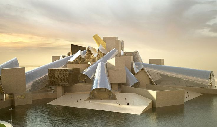 Oil Slump Slows Guggenheim Abu Dhabi. Archiecture by Frank Gehry