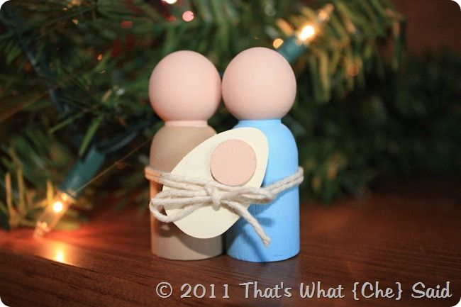 diy nativity small wooden   33 Nativity Crafts for Christmas - Do Small Things with Love