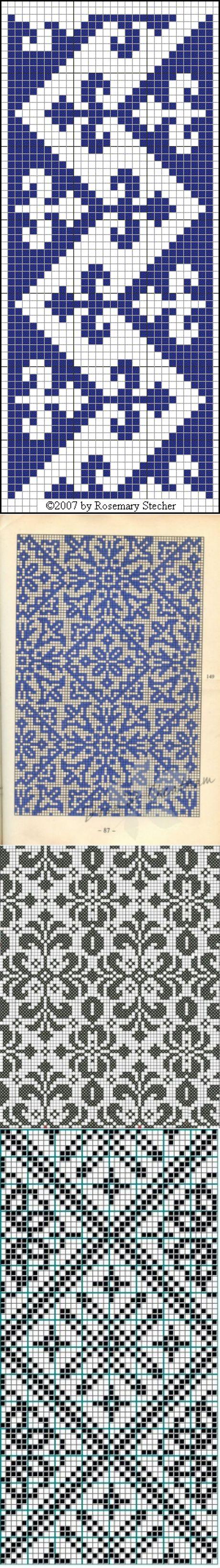 геометрические - геометрически подобные филейные схемы (40 схем)
