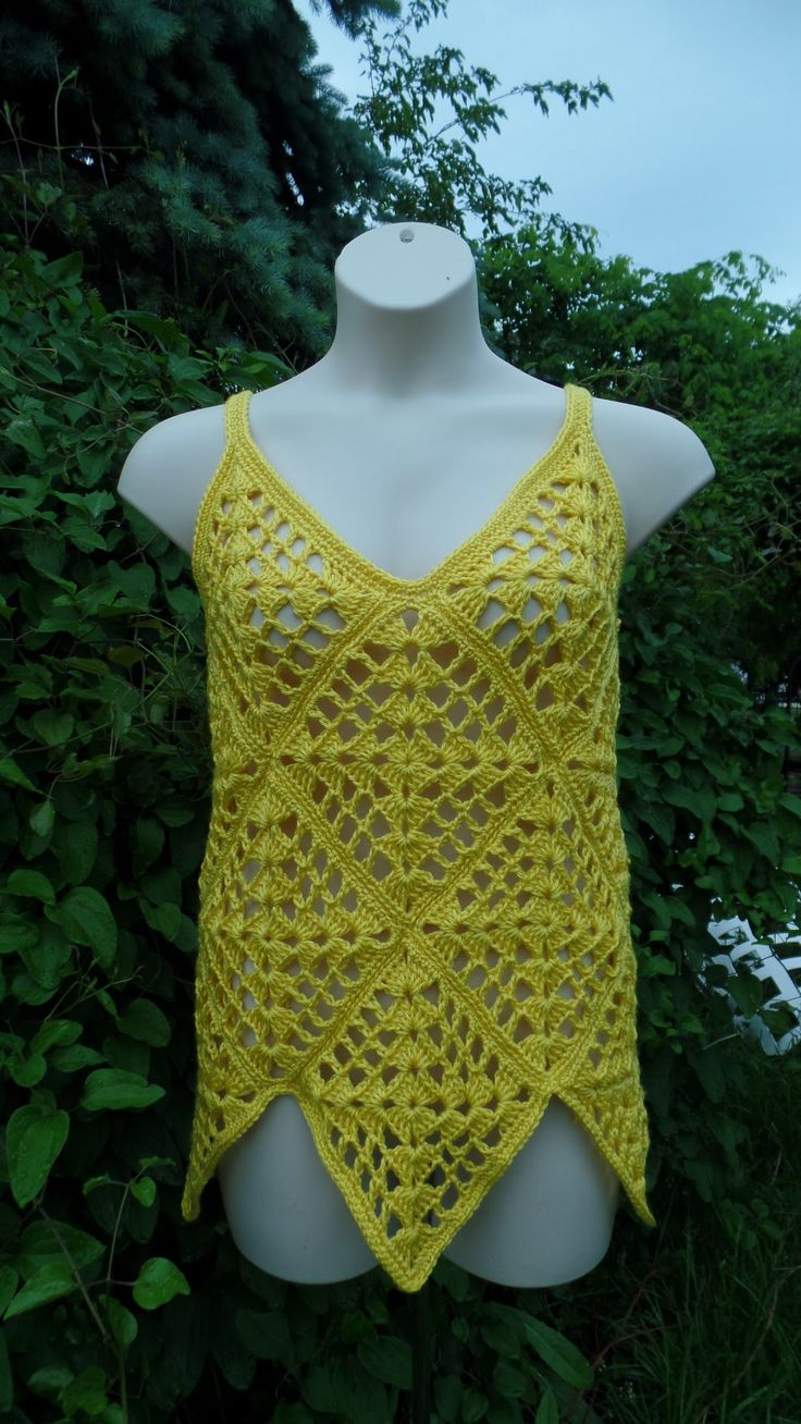 Crochet Ladies Womens Summer Top Shirt Blouse VIDEO TUTORIAL