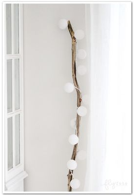 branch with lights - super quick holiday decor / mood lighting