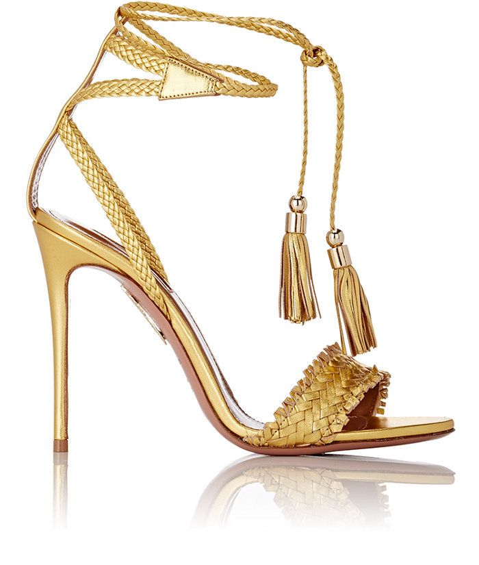 Aquazzura | Sun Valley Ankle-Tie Sandals | WedLuxe Magazine | #wedding #luxury…