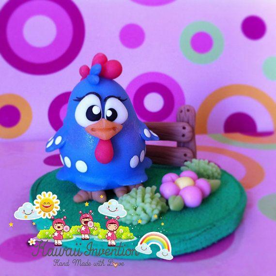 Cute Miniature Chicken  handmade in cold por KawaiiInvention, $15.00