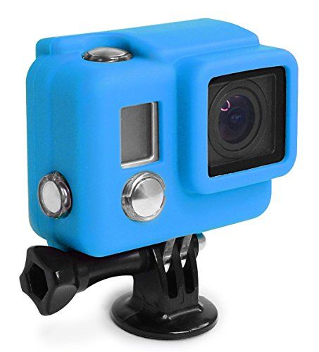 cool XSories Silicone Cover HD3+, Cover Fits All GoPro 3, GoPro 3+ Camera Housings, GoPro Accessories, GoPro 3 Accessories, GoPro 3+ Accessories (Blue)