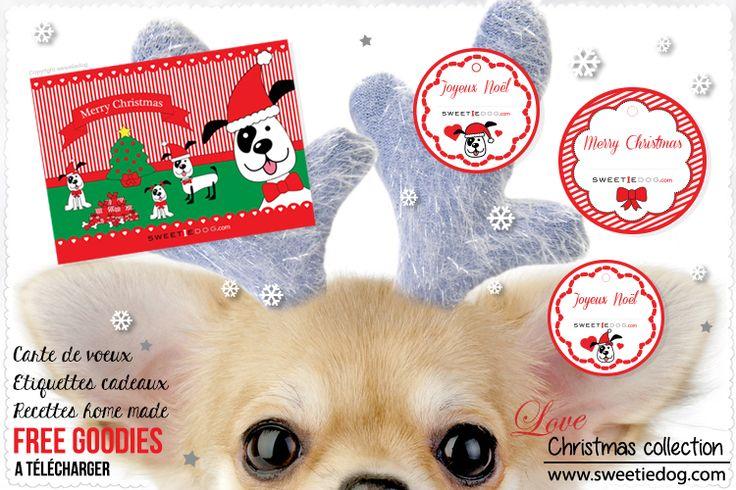 christmas goodies sweetie dog #chihuahua #diy #label #freeprintable #christmasprintable #dog #christmas #xmas #christmasgift #gift #free #goodies