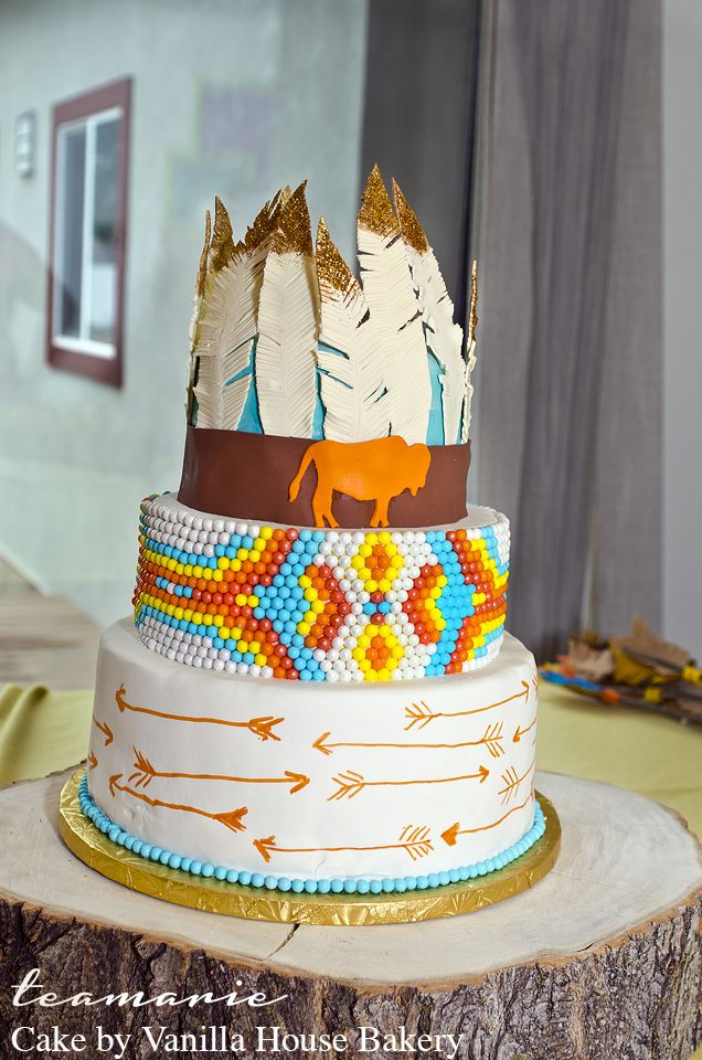 Indian Theme Cake and Baby Shower! Adorable party decor!