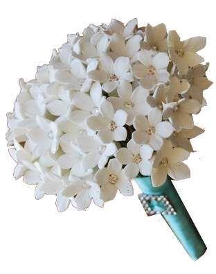 wedding flowers bridal bouquet   white stephanotis bouquet white bridal bouquet calla lilys pink ...