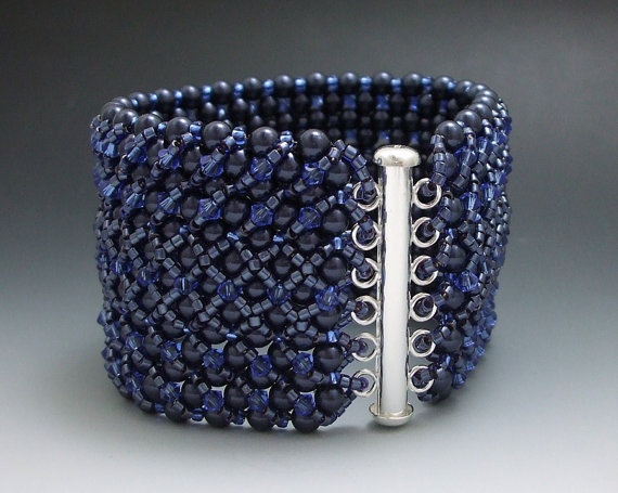 Midnight Blue Right Angle Weave