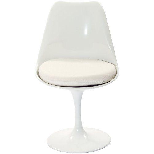 LexMod Eero Saarinen Style Tulip Side Chair with White Cushion LexMod http://www.amazon.com/dp/B003VP5QXM/ref=cm_sw_r_pi_dp_wkcTtb1Z3T6BVPB2