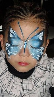 Schmetterling face painting