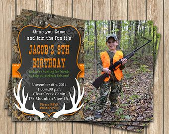 Camo Boy Deer Hunting Birthday party decorations PRINTABLE | Etsy