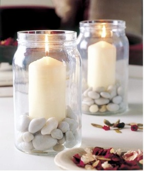 Candle holders for outdoor dining