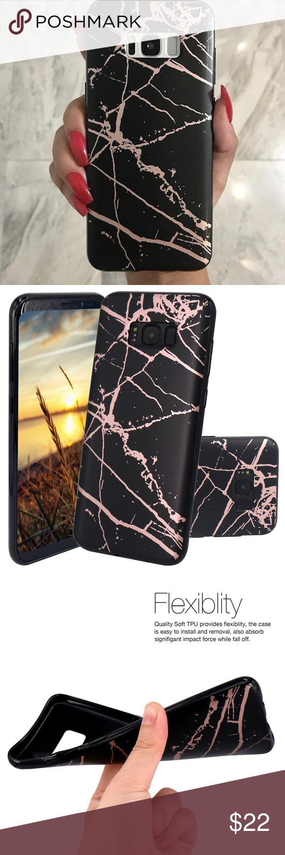 Samsung Black Marble Case Available for: Galaxy S8 Galaxy S8 Plus Note 8 Accessories Phone Cases