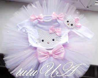 Hello Kitty Birthday Tutu Set Girls Personalized Hello Kitty