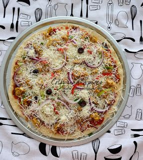 Chicken Tandoori Pizza  Use the fat head pizza recipe for crust. For sauce use left over Rita sauce with lots of chopped cilantro added.  Toppings are, tandoori chicken peices, thin sliced bell peppers, thin sliced onion, black olives mushrooms.