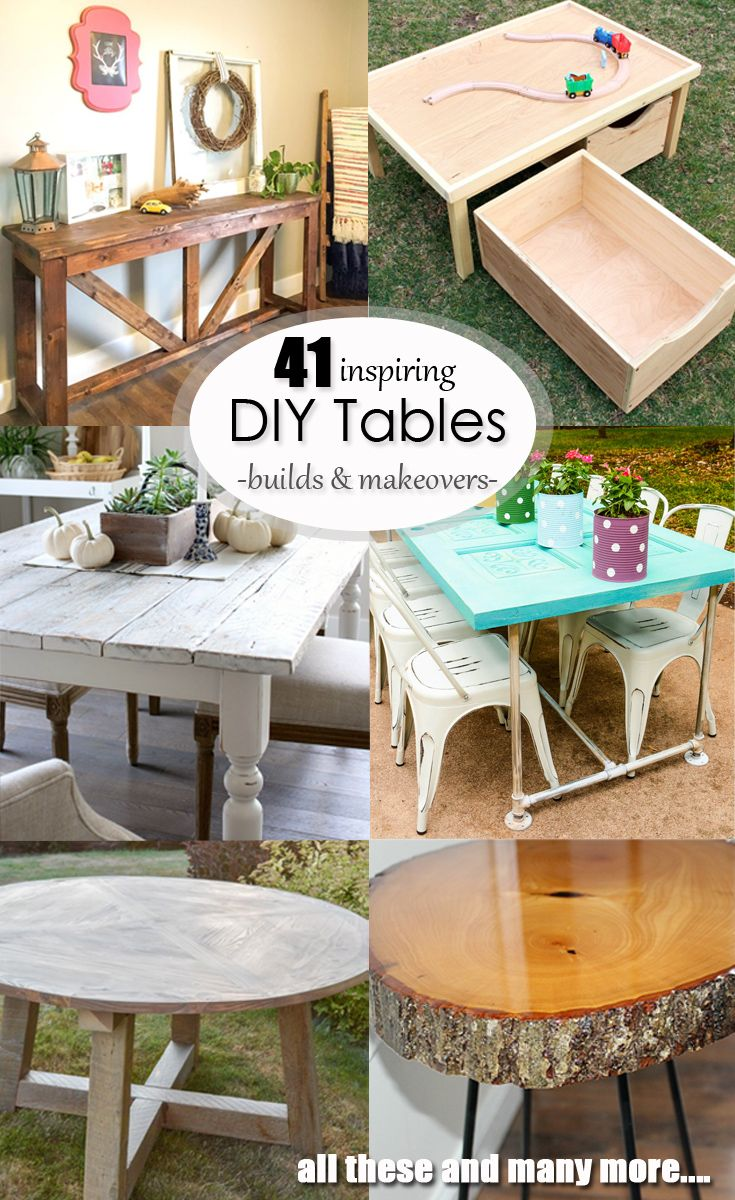 41 Inspiring DIY Table Builds and Makeovers - If I could afford it then it usually wasn't high quality, and if it was high quality then I usually couldn't afford it. The furniture I have been able to DIY has been sturdy, affordable, customized to my space and gives me an awesome sense of accomplishment as well. Win, win, win. Check out these awesome DIYs for inspiration! via @hazelandgold