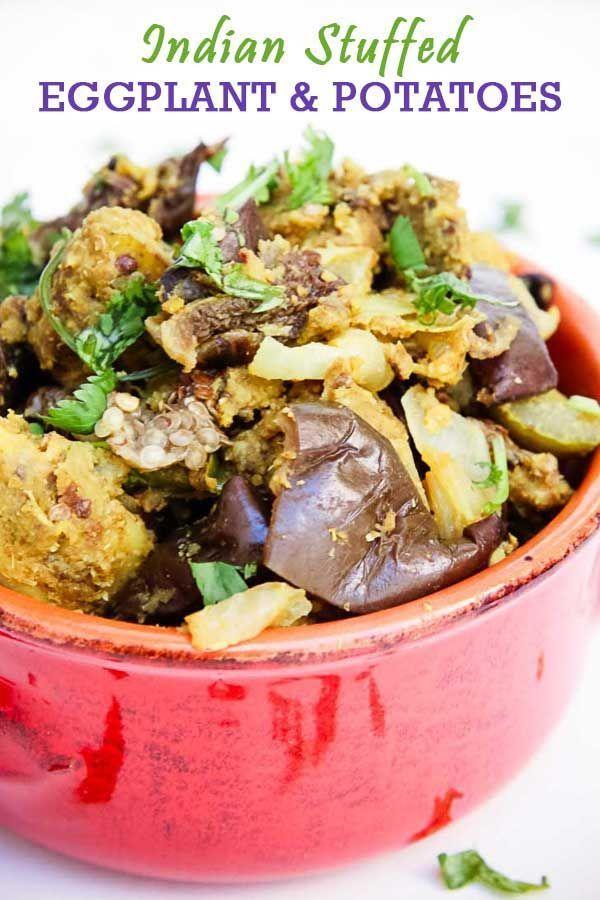 Indian Spice Stuffed Eggplants Potatoes
