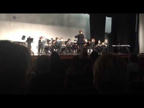 Conan's first concert playing baritone horn