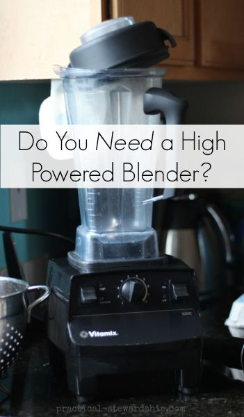 Do You Really Need a High Powered Blender?
