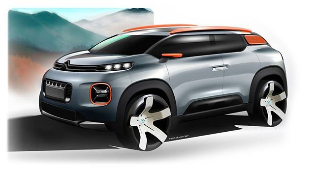 Citroen C-Aircross Concept official sketch  #cardesign #caircross #concept #aircross #sketch #carsketch #official #genevamotorshow #transportdesign #vehicledesign #automotivedesign ​