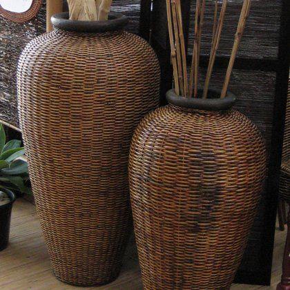 Download Wallpaper Rattan Vases Full Wallpapers