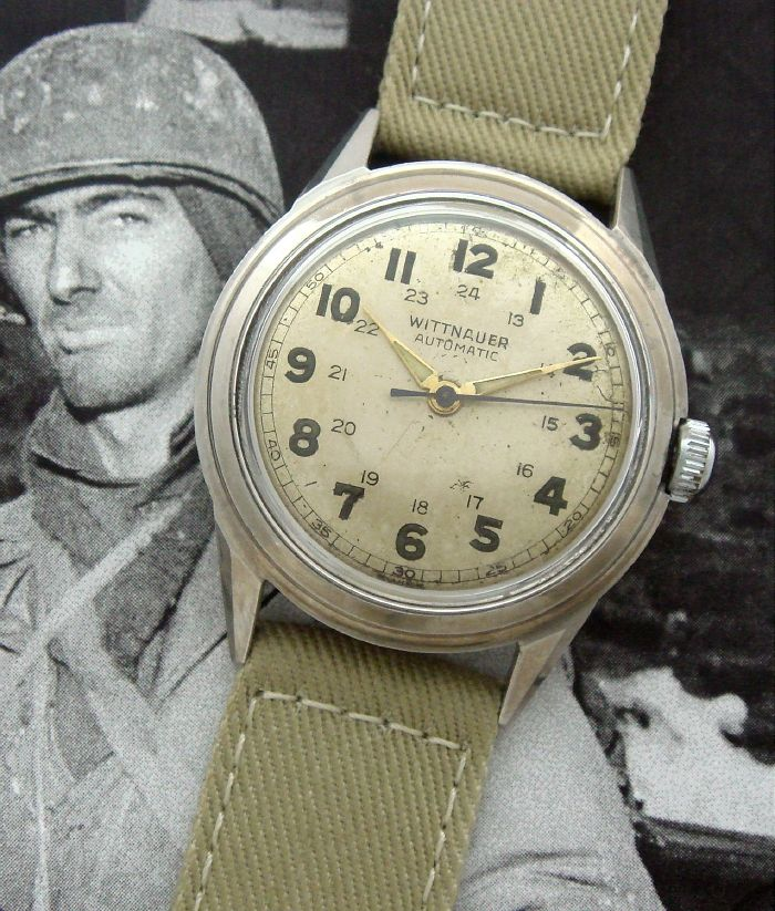17 best images about military horologica military men s 1948 military style wittnauer automatic strickland vintage watches
