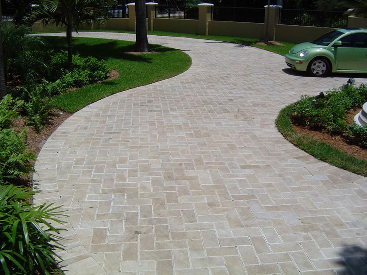 Natural stone for driveway outside tiles pinterest for Tile driveway