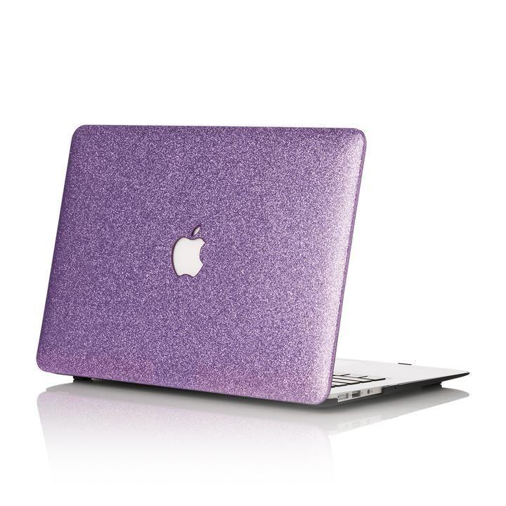 Lilac Glitter MacBook Case