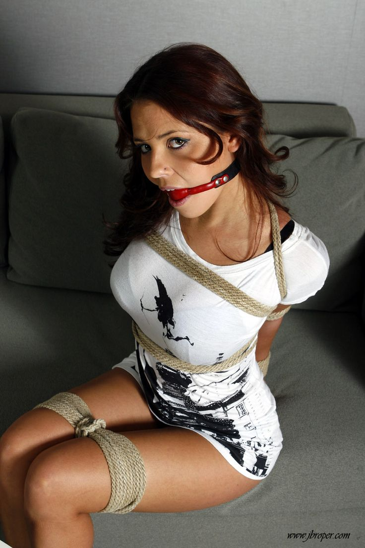 Ladies Tied With Rope Gagged 53