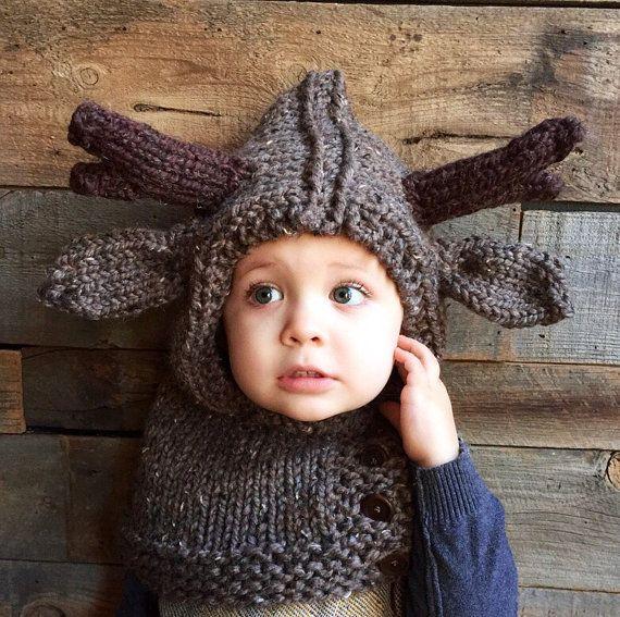 Rendieren hoed dierlijke babymutsje kinderen door franklymadetn