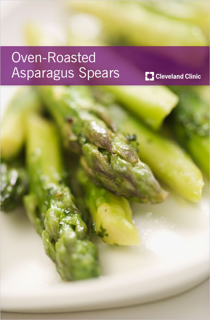 Healthy and nutritious oven-roasted #asparagus #recipe. Tip: when roasting, the thicker the asparagus the better – thin asparagus may be tough and stringy.