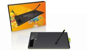 Wacom Bamboo drawing tablet.