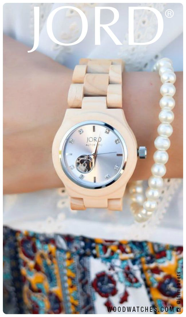 Sophisticated style, soft edges. Enjoy the natural feel of our wood watch Cora series in beautiful maple wood with a silver face, accented with genuine Swarovski crystals.   Available today at www.woodwatches.com, free shipping in the U.S.!