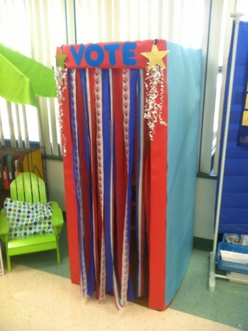 Making Voting Booths For Kids Pinterest