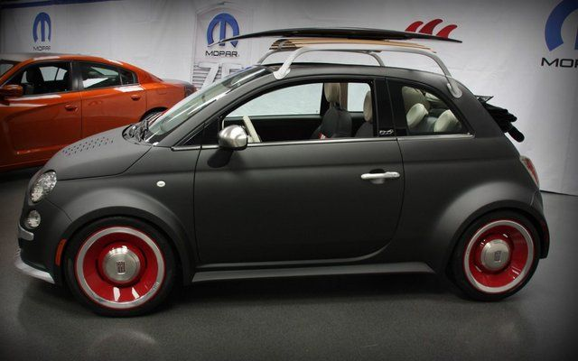#Fiat 500 beach-cruiser by mopar