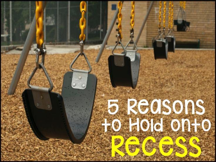 Recess - 5 Reasons Kids Need Recess! Great blog post!