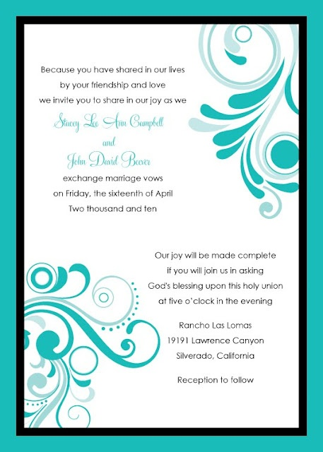 Wedding invitation wording gods will yaseen for for Wedding invitation acceptance quotes