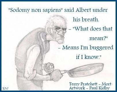 Quote by Sir Terry Pratchett, Artist Paul Kidby. By Kim White.
