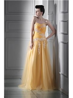 Excellent A-line Sweetheart Floor-length Luba's Prom Dress
