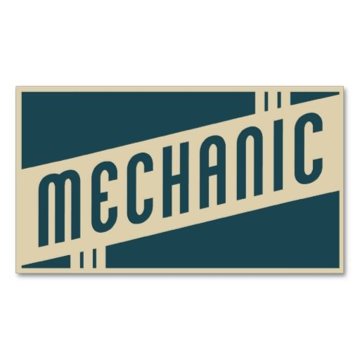 retro mechanic business cards. This is a fully customizable business card and available on several paper types for your needs. You can upload your own image or use the image as is. Just click this template to get started!
