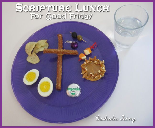 scripture lunch to teach the Easter story on Good Friday