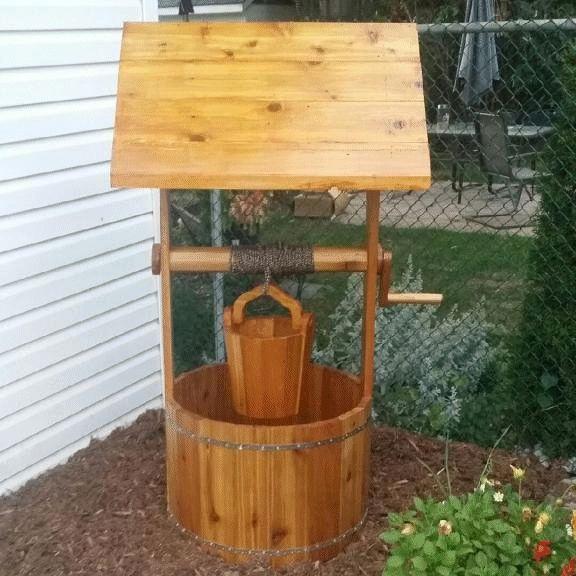Wooden wishing well made by Jim