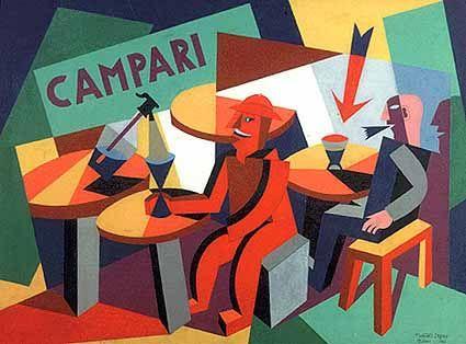 Italian Futurist graphic art...could clad cabana in this sort of design Strega e Campari: illustrazioni di Fortunato Depero