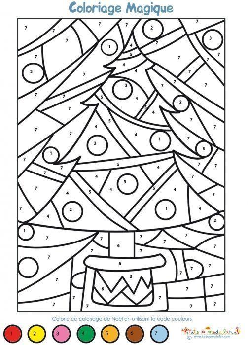 Coloriage magique Noël maternelle                                                                                                                                                                                 Plus